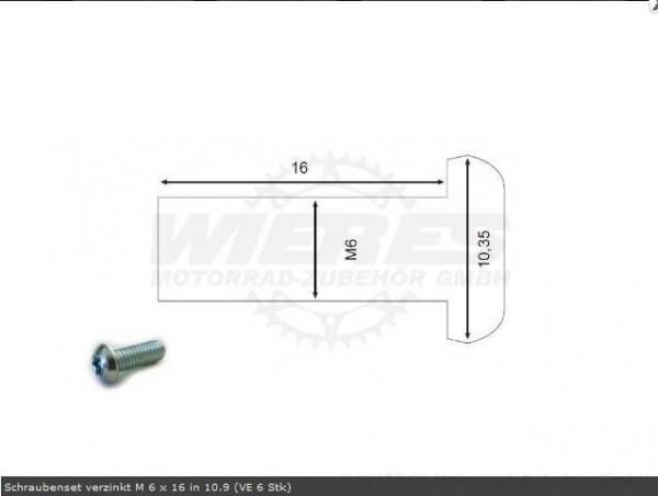 Moto-Master Bremsscheibenschrauben M6x16
