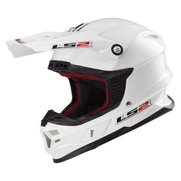 LS2 MX 456 HPFC Helm Single MonoGloss White