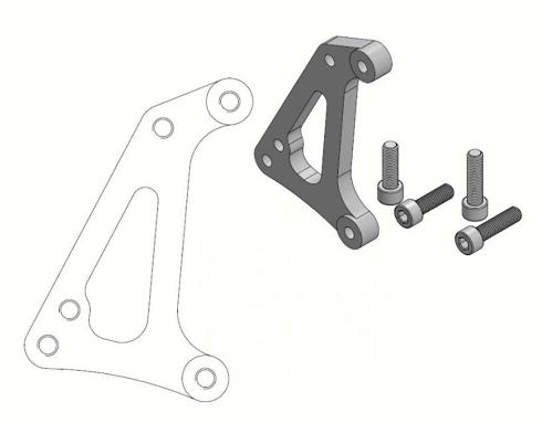 Moto-Master Adapter für 4 Kolben Bremssattel