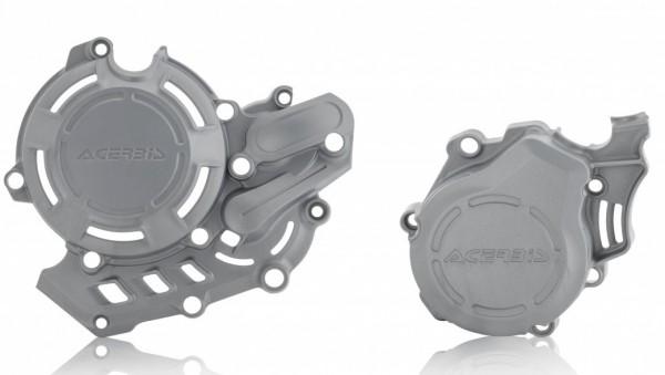Husqvarna / KTM Kupplungs und Zündungsdeckelschutz X Power silber