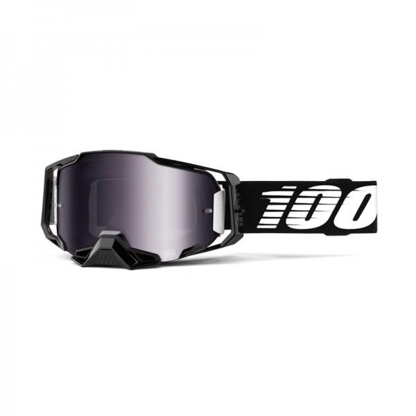 100% Goggle Armega Black Mirror Silver