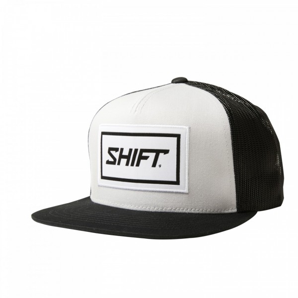 Shift Wordmark Snapback Withe Black