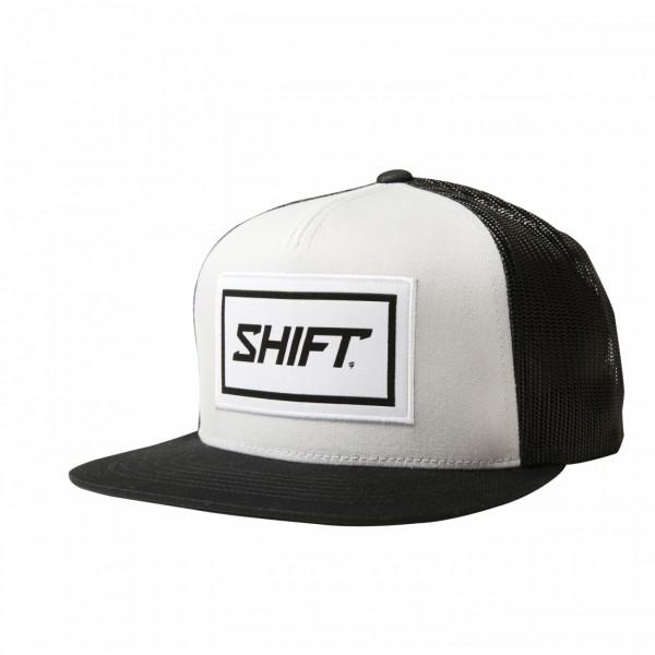 Shift Wordmark Snapback White Black