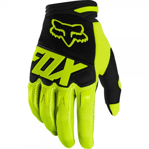 FOX Dirtpaw Race Glove Fluo Yellow