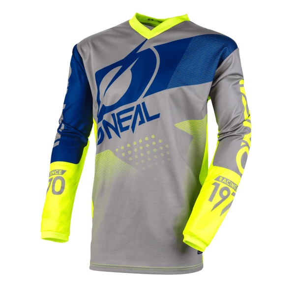 O`Neal ELEMENT Jersey FACTOR gray/blue/neon yellow