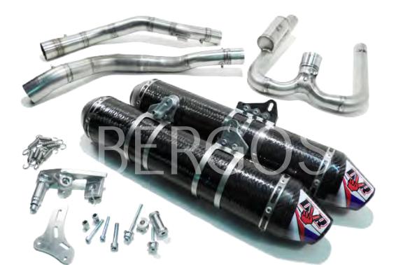 Kawasaki DVR Exhaust Doppelrohr-Auspuffanlage