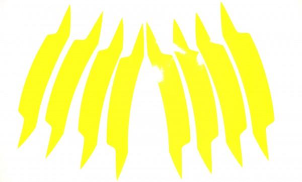 Felgenaufkleber Gelb