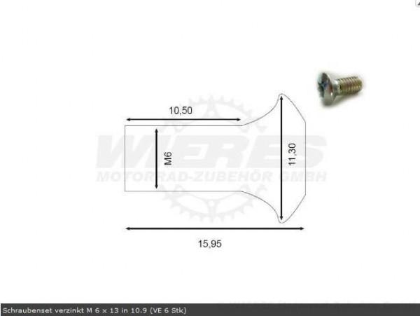 Moto-Master Bremsscheibenschrauben M6x1,0x13