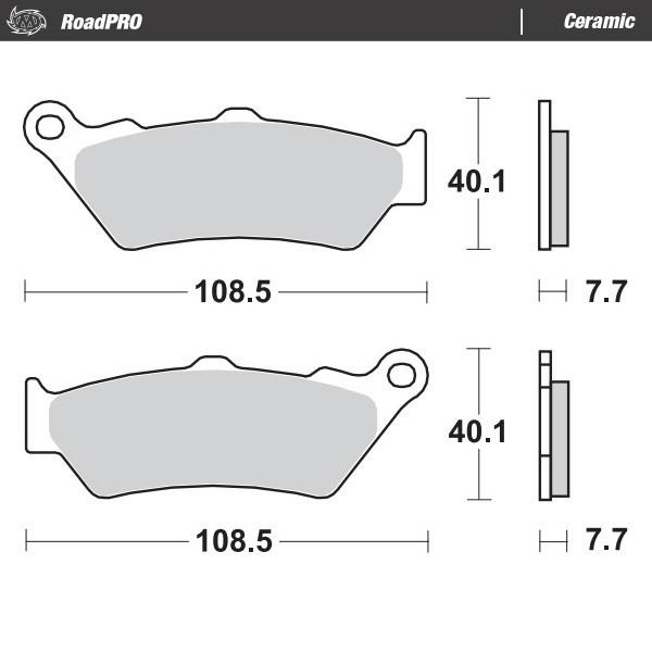 Moto-Master Bremsbeläge 701 Enduro vorne mit ABE