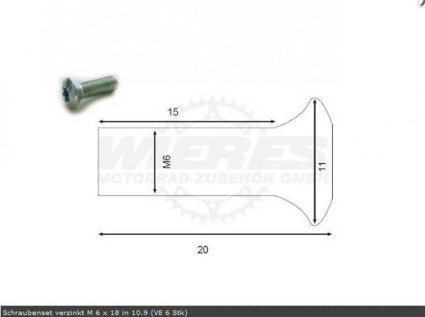 Moto-Master Bremsscheibenschrauben M6x18