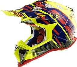 LS2 MX470 Subverter Bomber Yellow Blue Red
