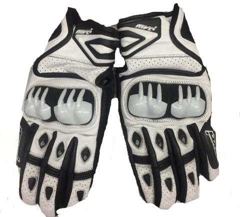 MVD Supermoto Handschuh weiß