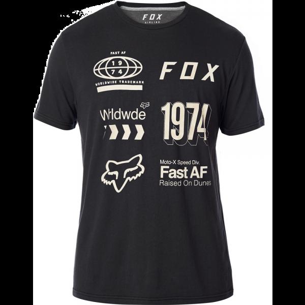 FOX Worldwide SS Airline Tee Black Grey