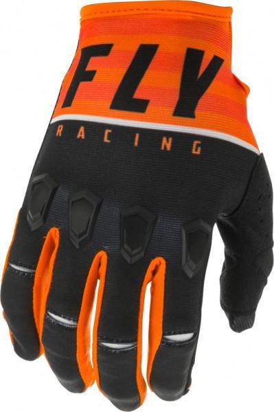 Fly Racing Kinetic K120 Kids Handschuh Orange-Schwarz-Weiß