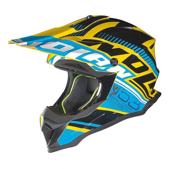 Nolan N53 Helm Flaxy blau-gelb
