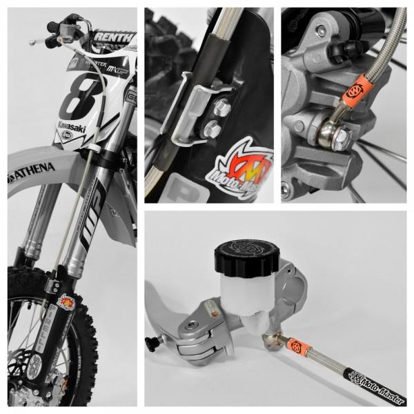 Moto-Master Stahlflex-Bremsleitung vorne Kawasaki