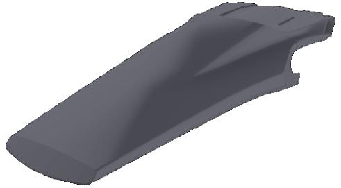 Husqvarna Kotflügel hinten nardo grey