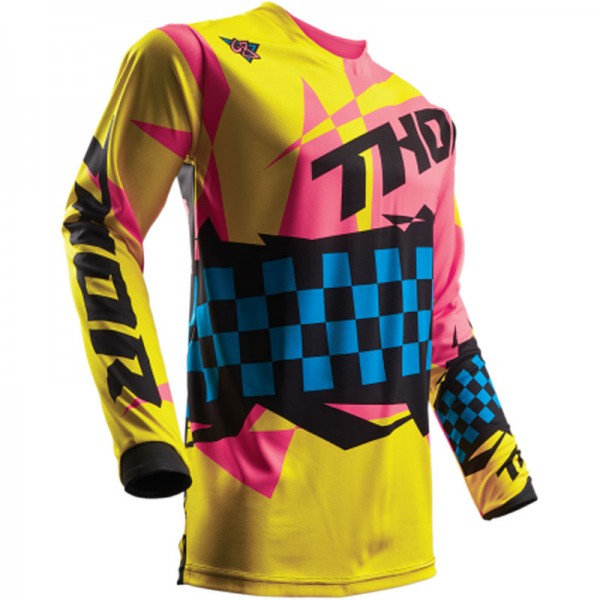 Thor Jersey Pulse Louda yellow pink