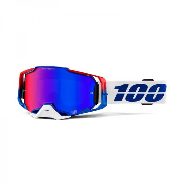 100% Goggle Armega Genesis Mirror Blue Red