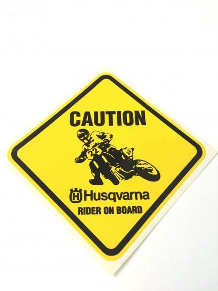"""Husqvarna Aufkleber """"Rider on Board"""""""